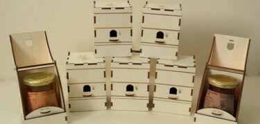 lesene darilne škatlice