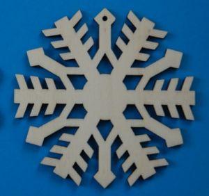 Leseni okrasek Snežinka3