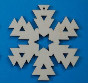 Leseni okrasek Snežinka5